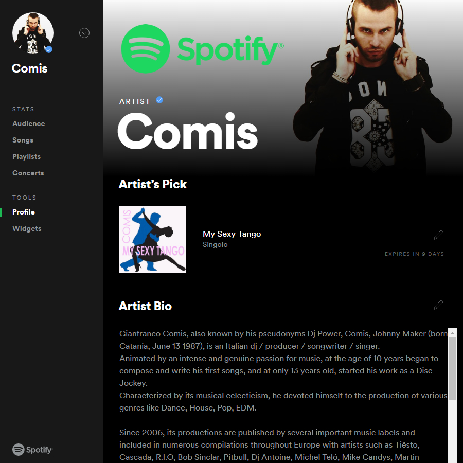 Comis Official Spotify